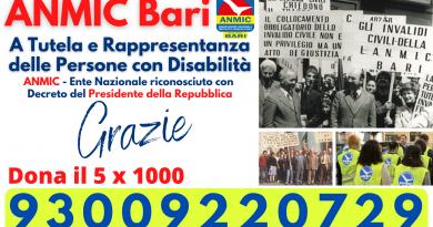 ANMIC Bari 5x1000 Donazione