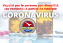 Le persone con disabilità verranno vaccinate contro il Coronavirus – ANMIC
