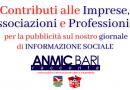 Contributi a imprese, associazioni o professionisti per la pubblicità sul nostro giornale di Informazione Sociale