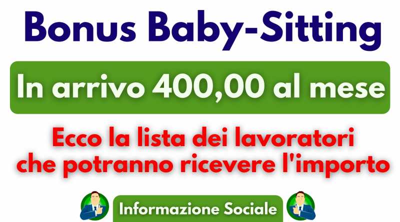 baby sitter bonus